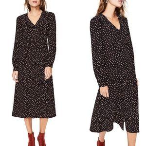 Boden | Polka Dot Elsie Midi Button Front Dress